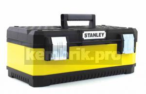 Ящик для инструментов Stanley Yellow metal plastic toolbox  23